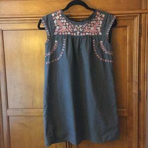 Gap kids gray embroidered summer dress